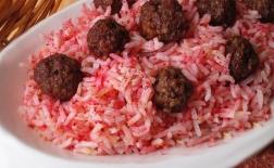 طرز تهیه برنج با گوشت پخته