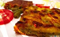 طرز تهیه کوکو لوبیا سبز 1