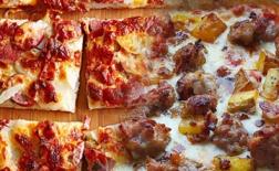 طرز تهیه پیتزا گوشت و سیب زمینی