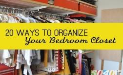 20 روش برای مدیریت گنجة اتاقخواب