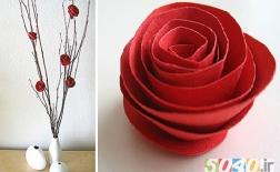 ساخت گل های زیبا با کاغذ