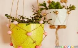 روش درست کردن آویز گلدان با مهره