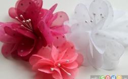 ساخت گلهای زیبا و کاربردی با پارچه