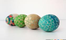 ساخت تخم مرغ های موزاییکی