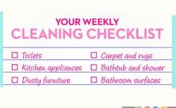 نقاطی از خانه که باید هر هفته تمیز شوند