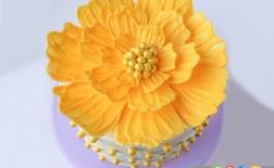 کیک شکلاتی به شکل گل