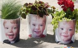 گلدان های زیبا با عکس خودتان