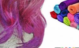 رنگ موی موقت با استفاده از کاغذ کشی