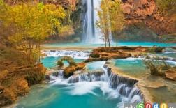 دریاچه های رنگین زیبا
