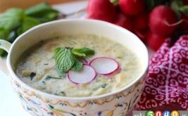 سوپ تربچه و نعناع