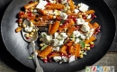 هویج کبابی با پنیر بز و انار