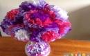 ساخت گلهای ساده با دستمال کاغذی
