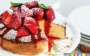 کیک فرانسوی با رویه ی توت فرنگی