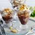 بستنی شکلاتی و کاراملی با بادام زمینی