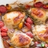مرغ با گوجه فرنگی گیلاسی و سیر