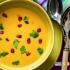 سوپ گل کلم با دانه های انار