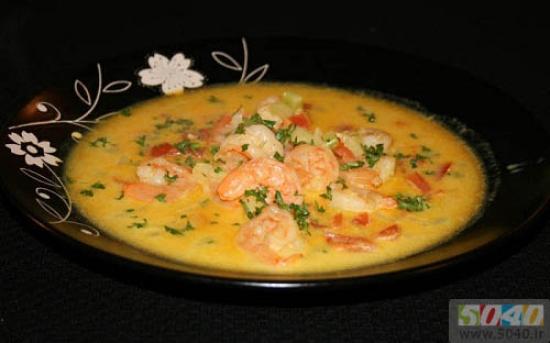 طرز تهیه سوپ میگوی خشک