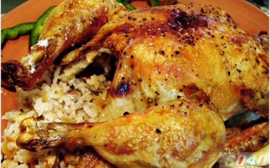 طرز تهیه مرغ شکم پر 2