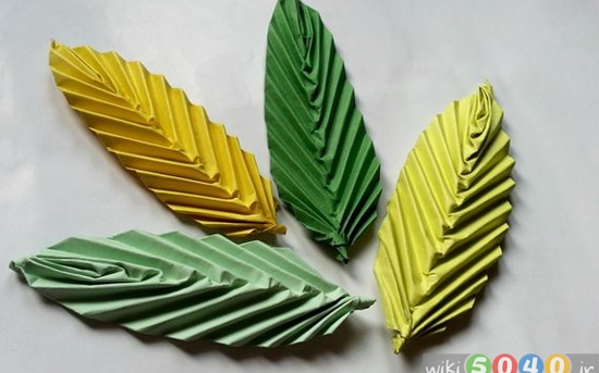 آموزش ساخت برگ اوریگامی