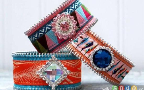 دستبندهای زیبا با روبان و چرم