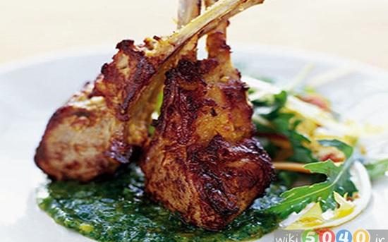 گوشت بره با ادویه هندی