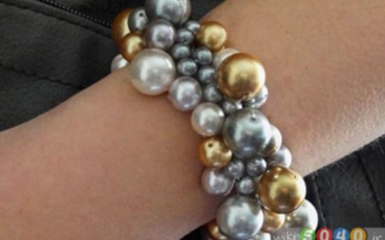 دستبند زیبا با مروارید