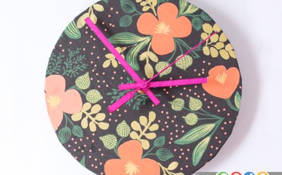 ساخت ساعت زیبا با کاغذ کادو
