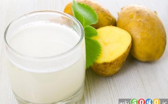 خواص آب سیب زمینی برای پوست و سلامت